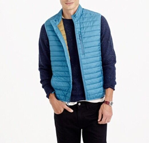 NWT J Crew Men's  LIGHTWEIGHT VEST WITH PRIMALOFT® Size XL
