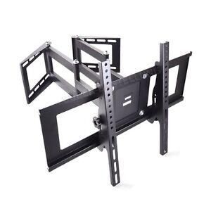 corner wall mount bracket for flat screen 30 32 40 47 50 55 60 tv full motion ebay. Black Bedroom Furniture Sets. Home Design Ideas