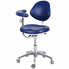 Dental Medical Dr's Stools Assistant's Chairs w/ Adjustable Assist Support PU