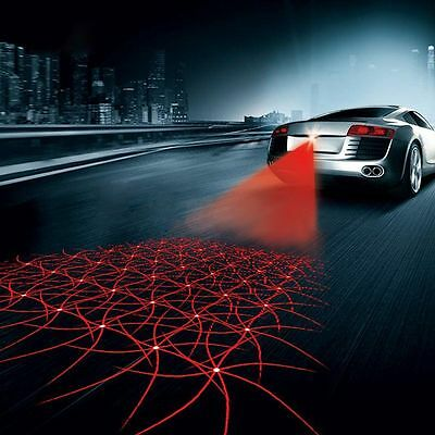Car Cool Pattern Anti-Collision End Rear Tail Fog Driving Laser Caution Lights