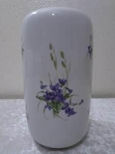 DDR-Design-Lichte-Fine-China-Porzellan-Vase-Vintage-Veilchen-Viola-25-cm
