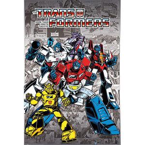 Transformers-Retro-Robots-In-Disguise-POSTER-61x91cm-NEW-Optimus-Megatron