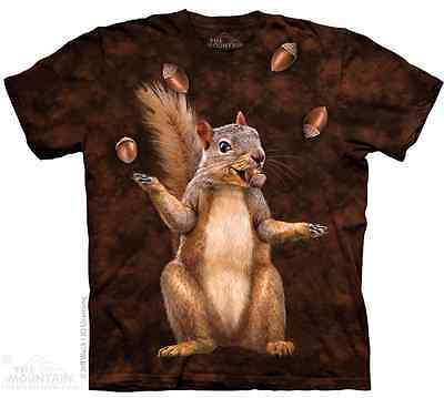 THE MOUNTAIN NUT JUGGLER SQUIRREL RODENT ANIMAL ZOO NATURE ACORN T SHIRT S-5XL