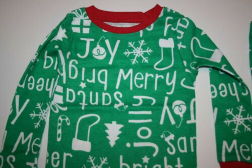 NEW Carter/'s 2 Piece PJs Girl Boy Holiday Green White 2 3 4 5 6 7 8 10 12 14 yr