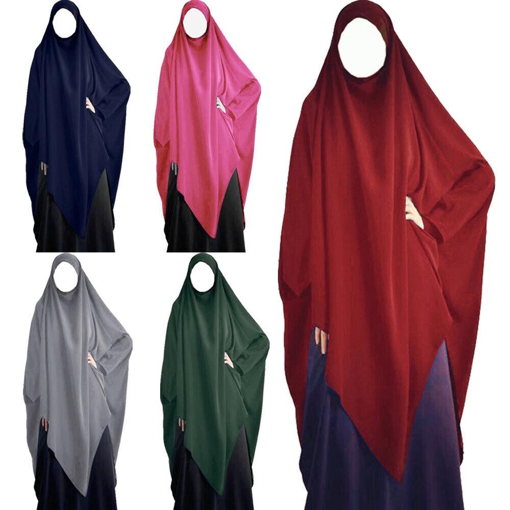 Niqab Nikab Khimar Hijab Muslim Women Prayer Scarf Islamic Overhead Jilbab Abaya