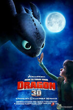 """How to Train Your Dragon 1 2 Wall Movie 20""""x13"""" Poster H09"""