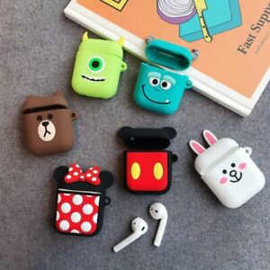 Apple Airpods Case Disney Minnie Mickey Monsters Inc Earphone Airpod Cover New Ebay