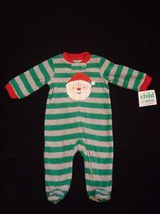 3968d982a New CARTER S CHILD OF MINE Boys Sz Newborn Santa Fleece Footed ...