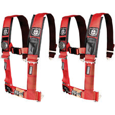 "Pro Armor 4 Point Harness 2"" Pads Seat Belt Pair Red Polaris RZR XP S 4 800 900"