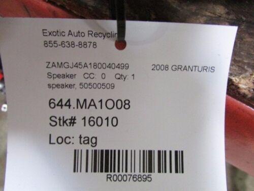 P//N 50500509 Maserati Granturismo Door Speaker Used