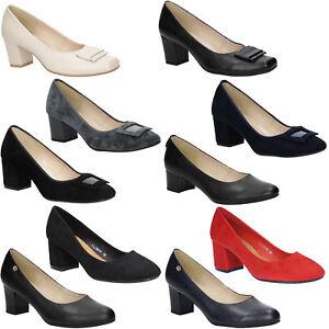 c742fe5b1f7f80 Das Bild wird geladen Damen-Pumps-Blockabsatz-Freizeit -Ganzjaehrig-Elegant-Komfort-Schuhe-
