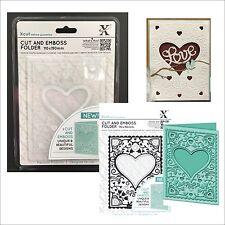Xcut embossing folders A6 HEART FRAME Cut & Emboss embossing folder XCU503803