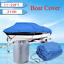 12-22FT Heavy Duty Fishing Ski 210D Oxford Boat Cover V-Hull Waterproof Kit /&Bag