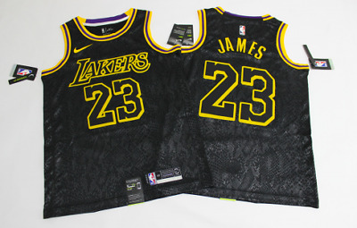 NWT Size XL LEBRON JAMES #23 Los Angeles Lakers Jersey Black ...
