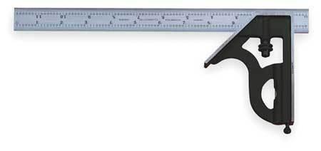 STARRETT C11H-6-4R Combination Square Set,6 In,2 Pc