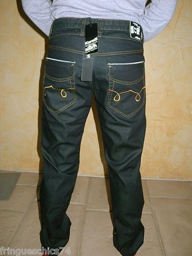 Jeans ciré homme KANABEACH ready size M (40-42) NEUF ÉTIQUETTE valeur