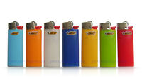 7 X Bic Mini Size Lighters Assorted Colors Always Reliable Free Shipping