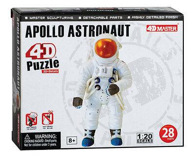 NASA 21141 Apollo Astronaut 4D Model Set 1:20 Scale Mint in Box