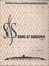 Song AT Sundown No 12  Standard Accordion Solos or Duets UK Sheet Music