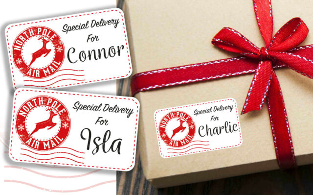 Personalised Christmas Present Gift Stickers Special Delivery Labels From Santa For Sale Online Ebay