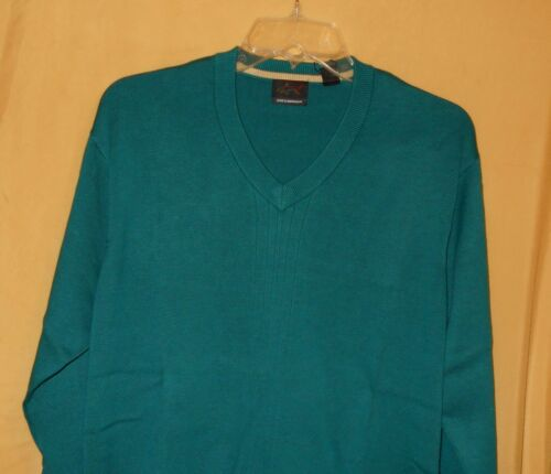 Rai Pullover Cotton Mens S Green Teal Sweater 89 Neck Norman V Greg Ls Stretch npTqSUp