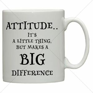 Attitude Boss Funny Desk Work Mug Inspirational Joke Quotes Gifts