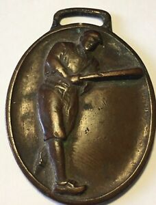 RARE-1920-s-Ty-Cobb-Detroit-Tigers-Brass-Watch-Fob