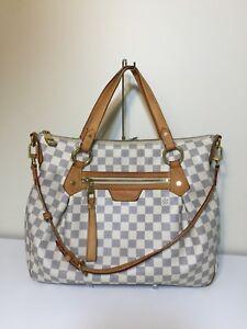 Authentic-Louis-Vuitton-Evora-MM-Damier-Azur-Tote-Shoulder-Bag