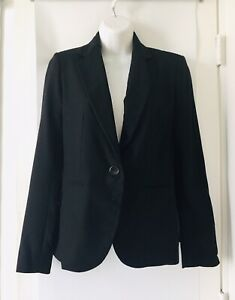 NWT ZARA MAN Black Lightweight trench coat button front long sleeve Size L $79