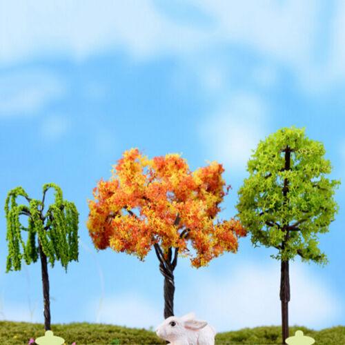 2X Miniature Sakura TreeMlants Fairy Garden Accessories Dollhouse Ornament MW