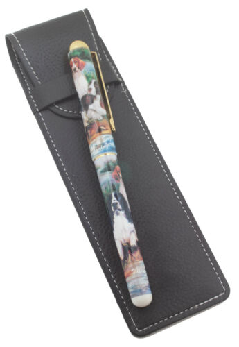 Welsh and English Springer Spaniel Breed of Dog Pen with Pen Case Perfect Gift