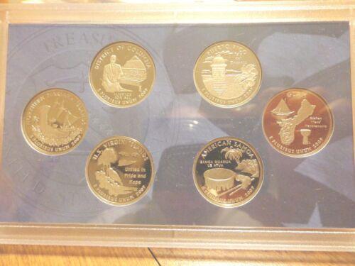 2009 S Clad Proof DC /& US Territories Quarter 6 Coin Set  No Box or Coa