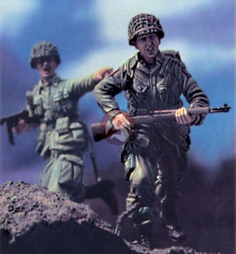 """LF0050 Legend 1//35 /""""Rushing to Normandy/"""" US Paratroopers WWII Vignette 2 Figs."""