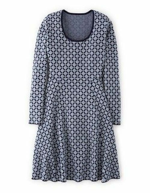 NEW Boden Glamgoldus bluee Sparkling Knitted Dress US 6 P