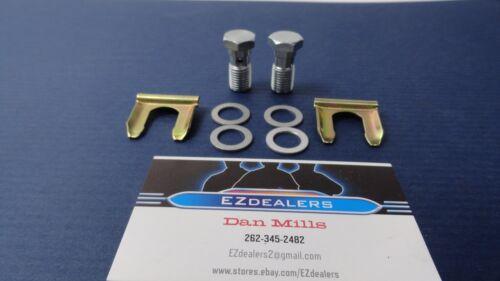 69-77 GM Disc Brake Single Piston Caliper Hose Banjo Bolts Clips Washers