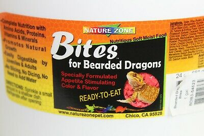 Intellective Nature Zone Bearded Dragon Bites 1 Gallon Container Ready To Eat Food Sealed New