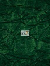 """CRUSH FLOCKING UPHOLSTERY VELOUR VELVET FABRIC - Emerald Green - 56/57"""" WIDE"""