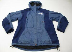 THE-NORTH-FACE-Women-039-s-Size-S-Gore-Shell-Blue-Hooded-Trek-Rain-Jacket
