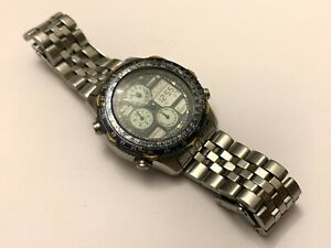 Vintage-Digital-Analogic-Citizen-Blue-Angels-C300-Q00842-Alarm-Timer-Chronograph