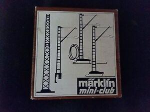 Marklin-8912-Mini-Club-Z-gauge-Catenary-feeder-mast-amp-metal-base