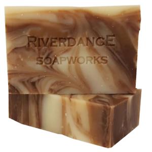 Riverdance-Cedar-Whiskey-Natural-Soap-Sage-Chocolate-Shea-Butter-Handmade-2-Bars