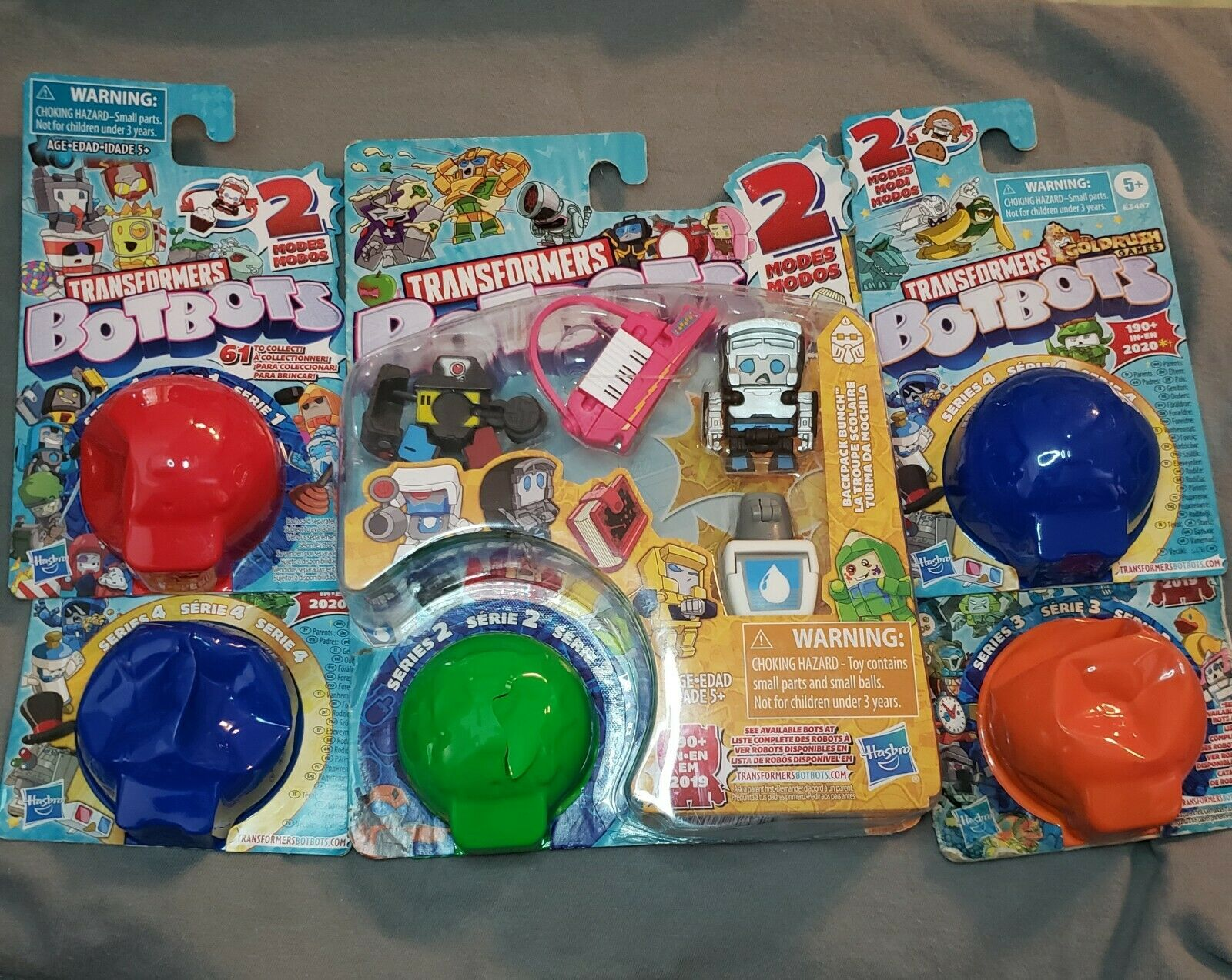 Lot of 3 Transformers BotBots Series 3 Mystery Pack Packs Orange New