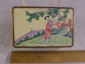 Chinese ENAMELED on BRASS Hand Made TRINKET/DRESSE<wbr/>R BOX