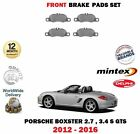 FOR PORSCHE BOXSTER 2.7 3.4 S GTS 2012-> FRONT BRAKE DISC PAD SET