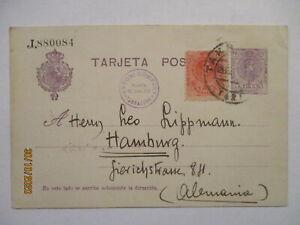 Spanien Ganzsache 1923 nach Hamburg (6327)