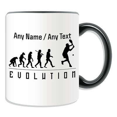Personalised Gift Tennis Mug Money Box Cup Evolution Design Player Team  Name Tea | eBay