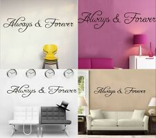 "Home Decor""Always and Forever""Wall Sticker Decal Vinyl Art Removeable Decoration"