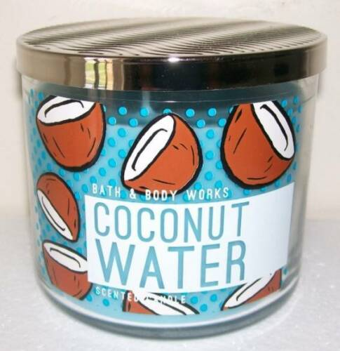 BATH & BODY WORKS COCONUT WATER 14.5OZ JAR CANDLE GREAT TROPICAL SCENT!