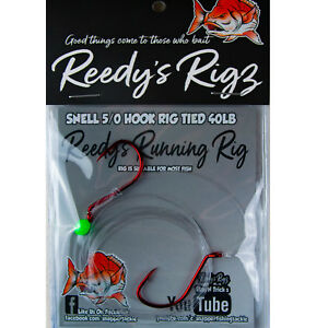 3x-Snapper-Rigs-5-0-Suicide-Fishing-Hook-Rig-Snell-Tied-40Lb-Leader-Big-Bait-Red