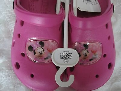 """SIZES BNWT FREE POST TO UK 8.5 AND 11.5 /""""DISNEY MINNIE MOUSE/"""" CLOGS"""